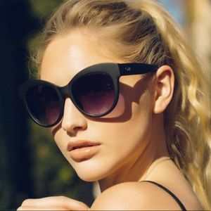 QUAY • Chunky Black Cat Eye Sunglasses